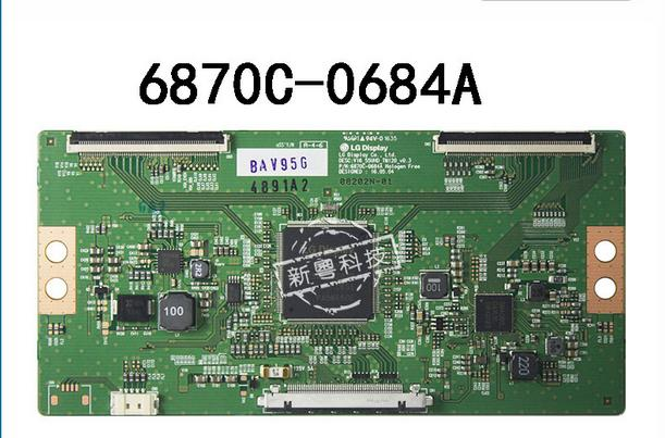 T-COn 6870C-0684A logic board FOR SCREEN V16_55HD_TM120_V0.3 CONNECTOR CABLE