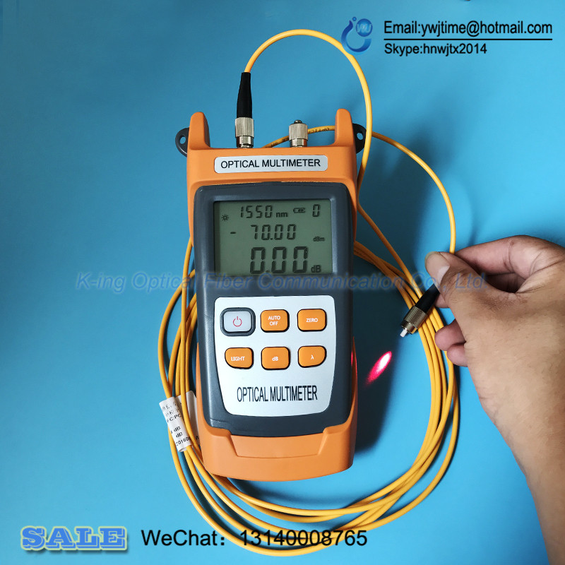 KING 40S FTTH Fiber Optical Power Meter 70 To 10dbm And 10mw 10km Fiber Optic Cable