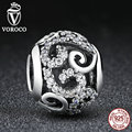 2017 New Hotsale 925 Sterling Silver Crystal Beads fit Pandora Charm Bracelets Necklace Mother Gift C021