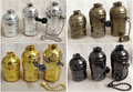 1pcs Vintage Choose Edison Lamp Holder Pendant Light E27 Socket UL/110V/220V Lamp Base