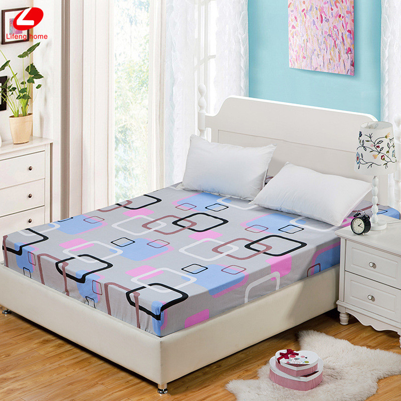 Home textile bed sheet sheet flower mattress cover printing bed sheet elastic rubber bedclothes 180*200cm summer bedspread band 25