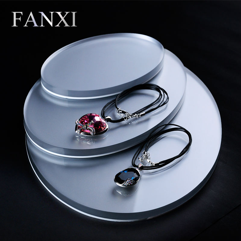 цена на FANXI 3pcs/set Acrylic Jewelry Display Stand Set for Ring Earring Necklace Bracelet Exhibitor Holder Jewelry Organizer Showcase