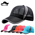 2017 New Summer Breathe Freely Mesh Baseball Cap Men Outdoor Sport Hats Bone Cap with 4 Colors