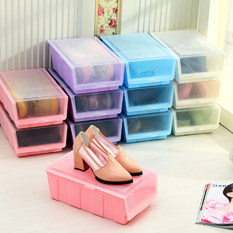 shoe box storage shoes box with cover kitchen storage shelf special offer 12928