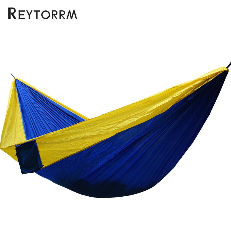 300*200cm King Size Camping Hammock Nylon Hamac Super Large 2 Person Lightweight 210T Fabric Survival Chair hammock 300 200cm 210t nylon outdoor furniture 2 people portable parachute hammock camping survival garden flyknit hunting hamac