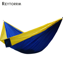 300*200cm King Size Camping Hammock Nylon Hamac Super Large 2 Person Lightweight 210T Fabric Survival Chair