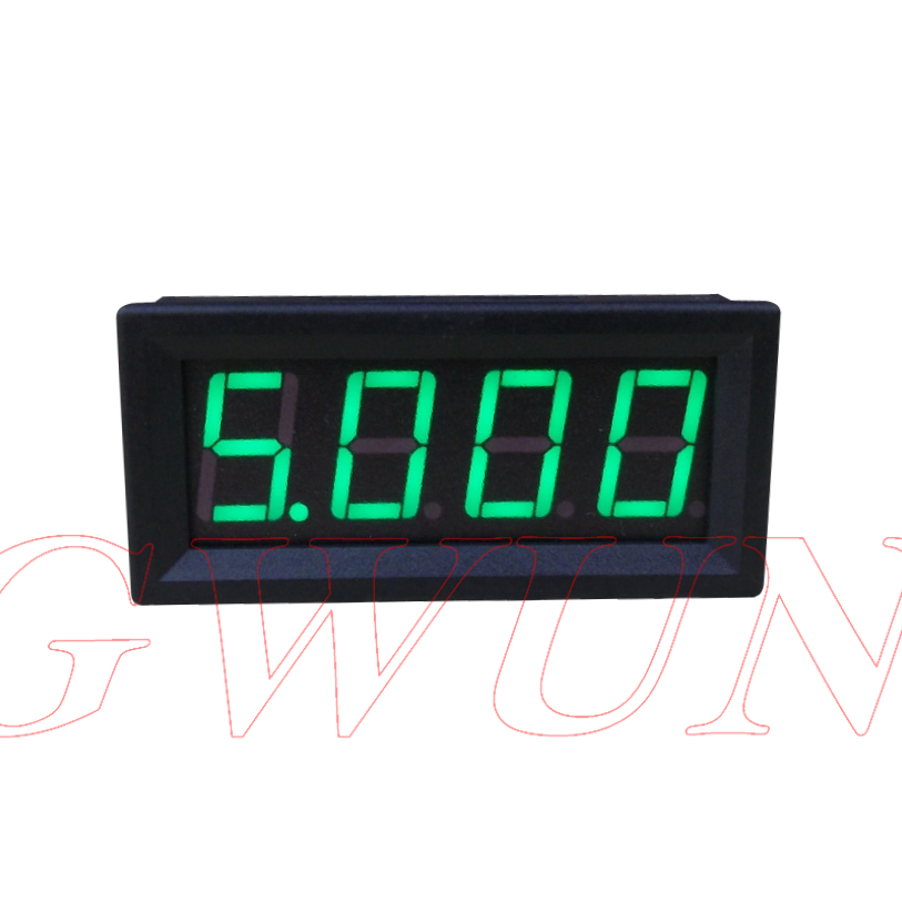GWUNW BY456A 0-9.999A (10A) 4 peu chiffres ampèremètre Actuel Panel Meter 0.56 pouce LED
