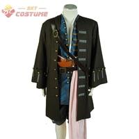 Piraten Van De Caribbean Jack Sparrow Halloween Cosplay Kostuum Outfit Jas Voor Volwassen Mannen