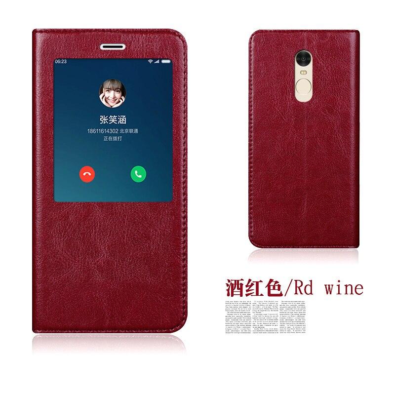 bilder für Original Aimak Echtem Leder Smart Window Schlag-standplatz-abdeckung Fall Für Xiaomi Redmi Note 4/Anmerkung 4X/Redmi Pro Handytasche