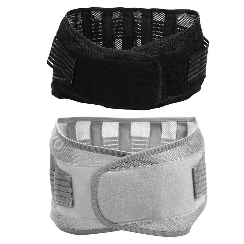 Las mujeres de los hombres transpirable Lumbar soporte de la cintura corsé ortopédico postura volver cinturón gimnasio accesorios deportivos