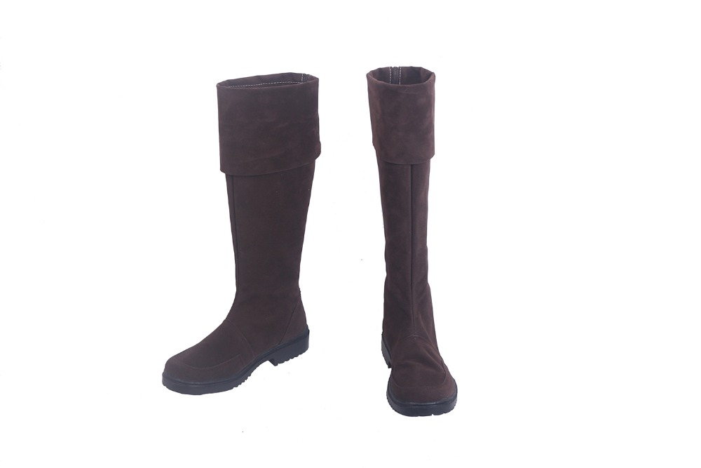 FGO FateEXTRA Robin Hood Cosplay Boots Brown Shoes Custom Made Any Size (2)