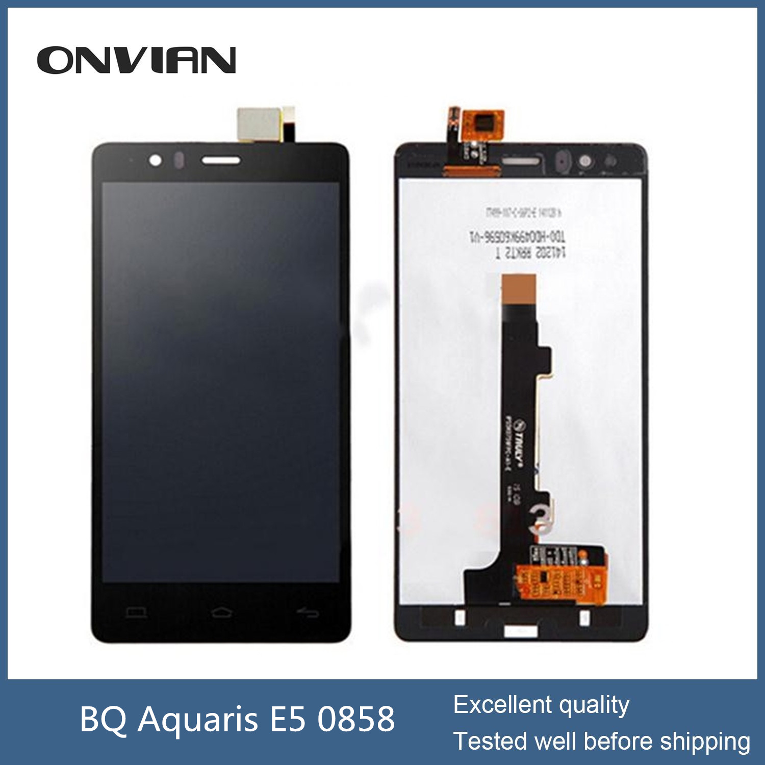 BQ Aquaris E5 TFT5K0858FPC-A1-E LCD Display Touch Screen Digitizer Assembly Aquaris E5 0858 lcd Replacement 5K0858/5k0760/5K0759
