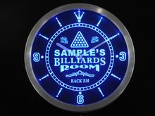 ncpj-tm Billiards Room Personalized Your Name Bar Beer Sign Neon Led Clock Wholesale Dropshipping
