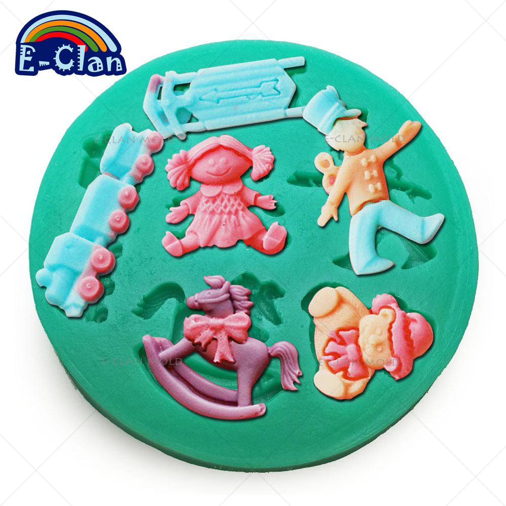Trojan train doll silicone molds for cake decorating jelly ...