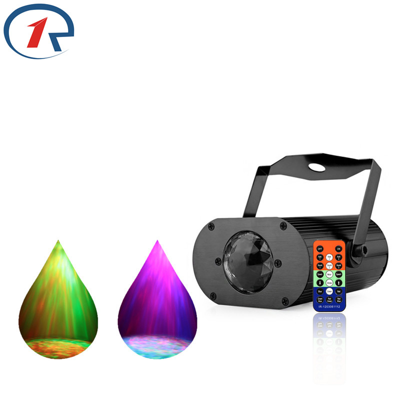 ZjRight IR Remote Colorful Water Wave Ripple Stage Light Water Projekční efekt Hudební ovladač Party ktv bar DJ disco světla