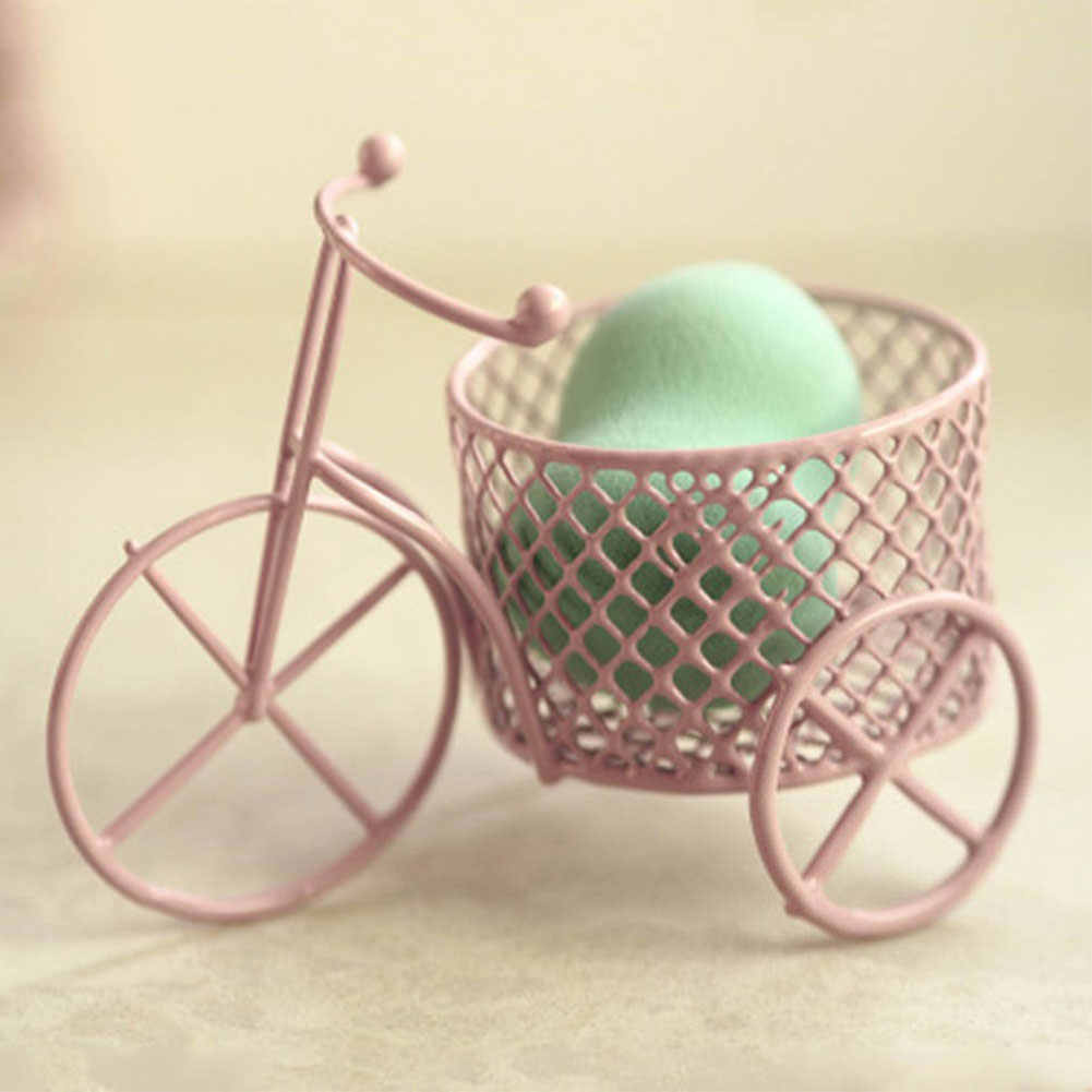Cute Iron Tricycle Art Decoration Wedding Sugar Jewelry Container Storage Holder Creative Flower Basket Storage  DIY home decor
