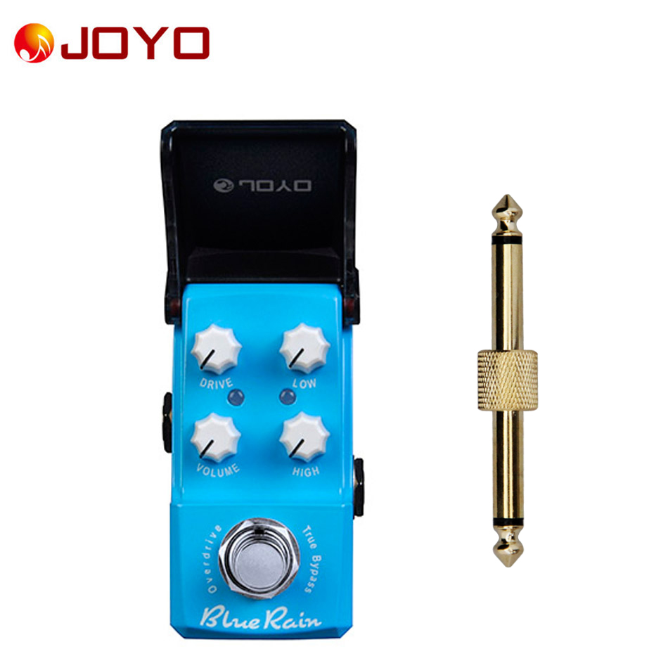 NEW Guitar effect pedal JOYO Emerald Blue Rain Ironman series mini pedal JF-311 + 1 pc pedal connector joyo blue rain overdrive electric guitar effect pedal true bypass ironman jf 311 with free 3m cable