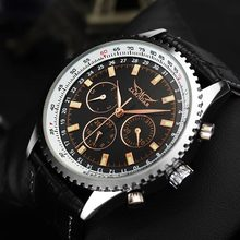 JARAGAR Brand Luxury Automatic Mechanical Fashion Leather Commercial Men Wrist Watch Men s Watches 2016 New