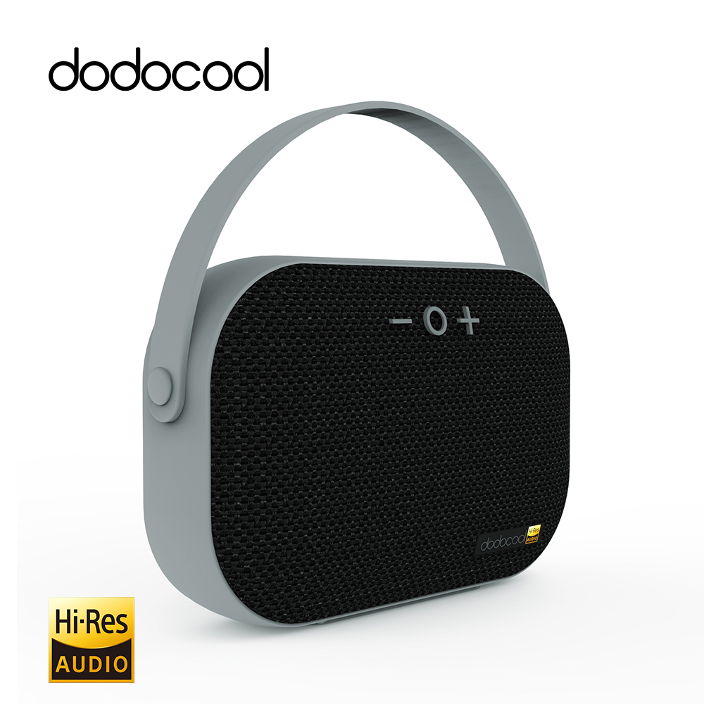 dodocool Mini Bluetooth Speaker Hi-Res Wireless Speaker Rechargeable Portable Speaker with Mic Surpport TF Card USB Disk 32GB цена 2017