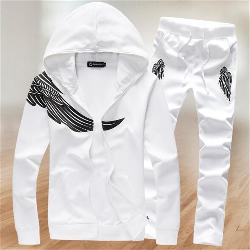 Tangcool 2018 Mens Autumn Winter sporting set men pant suits Fitness baseball track Jacket size M-5XL ...