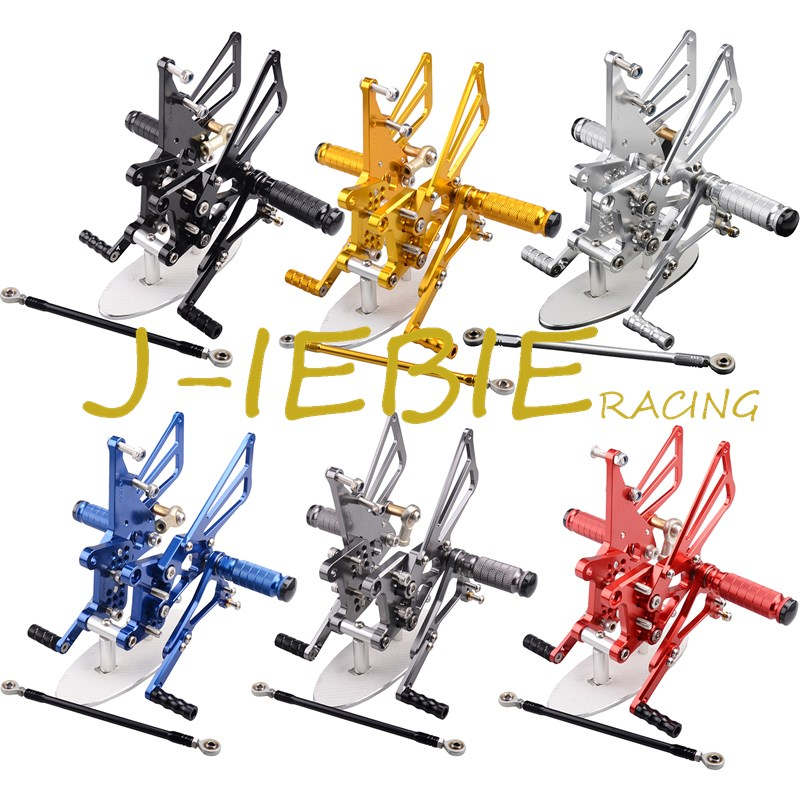 CNC Racing Rearset Adjustable Rear Sets Foot pegs Fit For Triumph T595 T509 955i SPEED TRIPLE 1050 titanium cnc aluminum racing adjustable rearset foot pegs rear sets for yamaha mt 07 fz 07 mt07 fz07 2013 2014 2015 2016