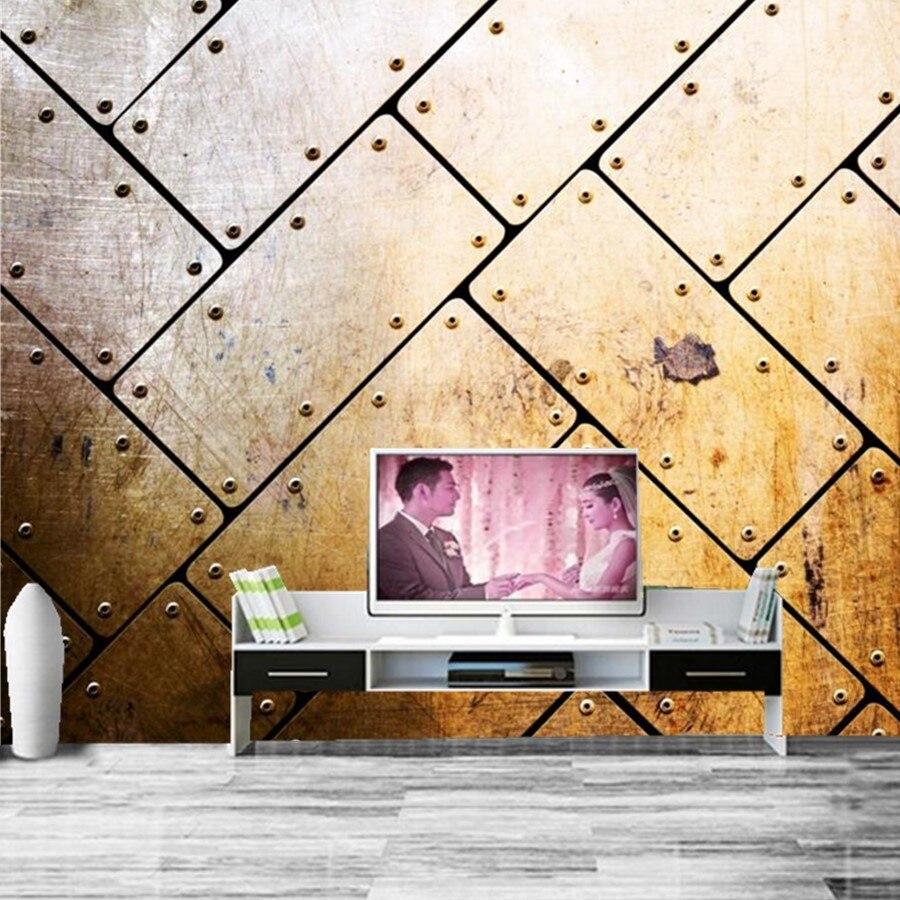 Benutzerdefinierte Metall textur hintergrund moderne tapete, bar ...
