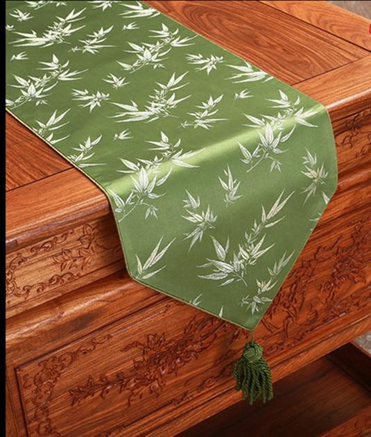 Lange Bambus Muster Tischlaufer Elegante Abdeckung Tuch High End
