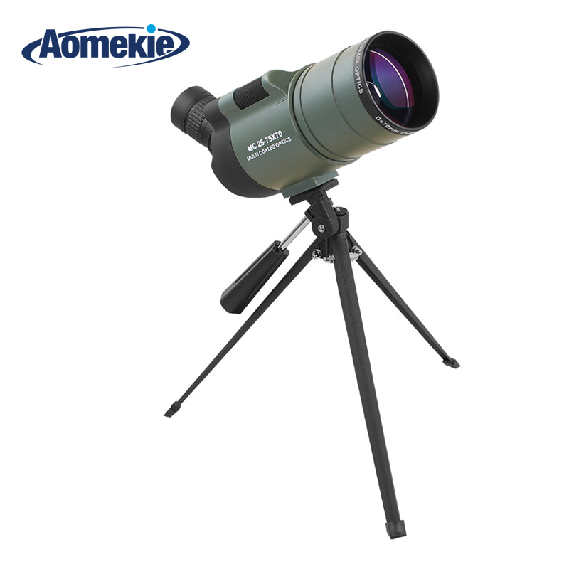 AOMEKIE 25-75X70 MAK Zoom Spotting Scope with Tripod for Bird Watching Waterproof Long Range Target Shooting Monocular Telescope 25 75x70 zoom spotting scope with tripod