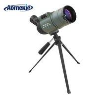 AOMEKIE Spotting Scope 25 75X Zoom 70mm Lens with Tripod Bird Watching Waterproof Long Range Target Shooting Monocular Telescope