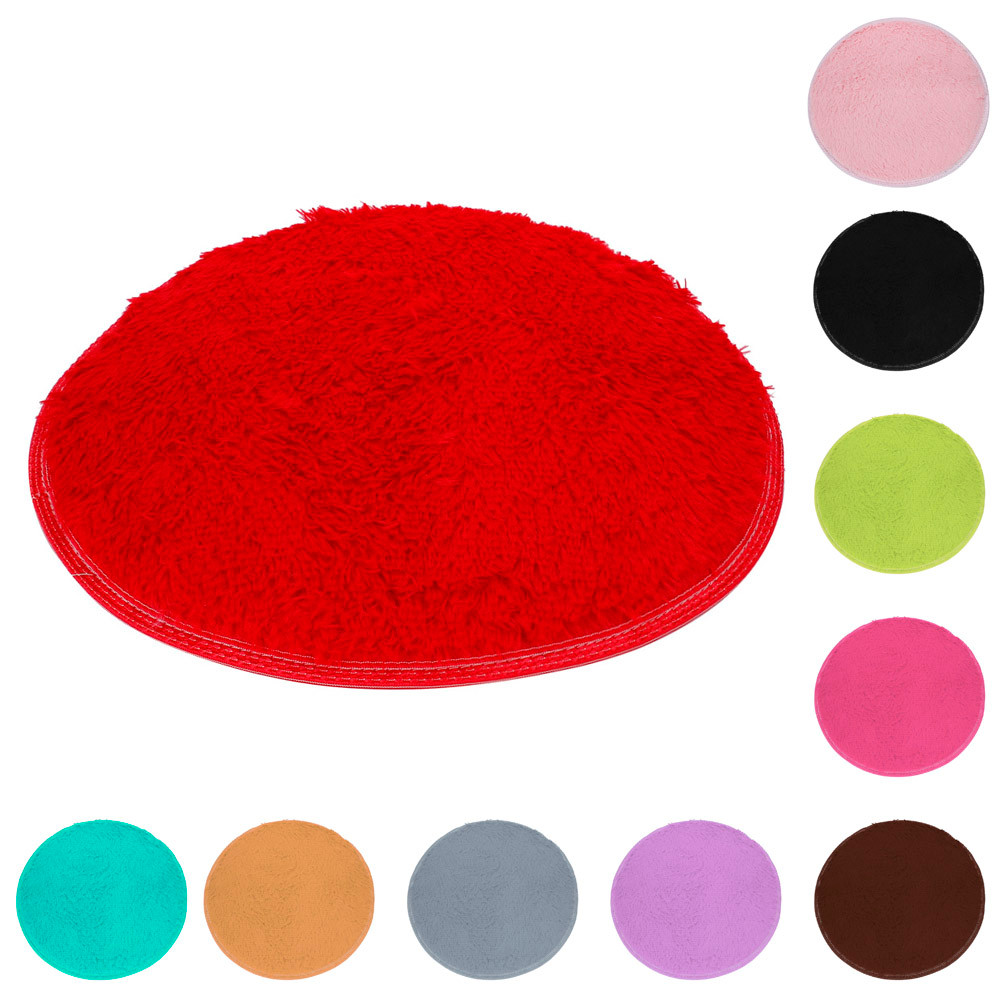 2018 Bath Mats Bathroom Rugs Soft Bath Bedroom Floor Shower Round Mat Rug Non Slip 40CM 10 Color