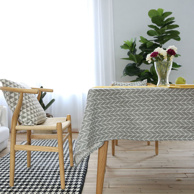Arrow Pattern – Decorative Table Cloth – Cotton Linen