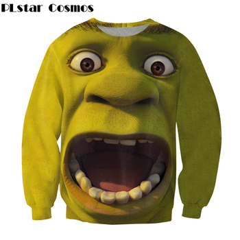 Women/Men Fashion Sweatshirt Classic animation Shrek 3d Printed Crewneck Sweatshirt Casual Pullover Plus size S-5XL
