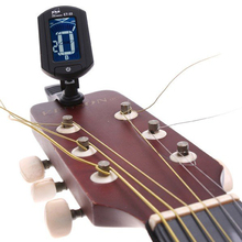 ENO 360 Degree LCD Digital Guitar Tuner Turning For Chromatic Guitar Bass Violin Ukulele Stringed Instrument