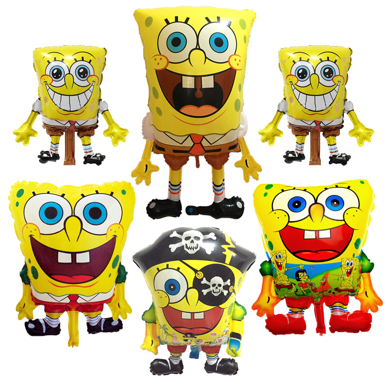 Cartoon SpongeBob SquarePants Balloons Childrens birthday party balloon decorations aluminum  toys wholesale