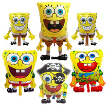 Cartoon SpongeBob SquarePants Balloons Childrens birthday party balloon decorations aluminum  toys wholesale