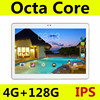 10 inch tablet PC Octa Core Android 5.1 4GB RAM 128GB ROM 8 Core Dual SIM Card GPS Bluetooth Call phone Gifts Tablets 10 10.1
