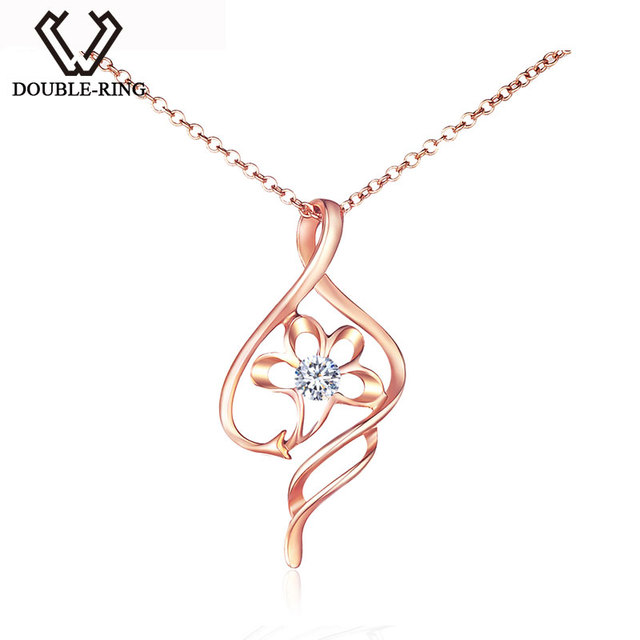 Double r hot sale diamond pendants 18k rose gold free shipping double r hot sale diamond pendants 18k rose gold free shipping newest fine jewelry pendant mozeypictures Gallery