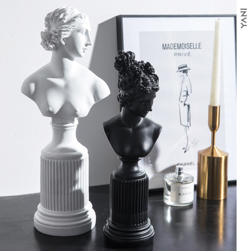 Venus Figure Statue Goddess Bust Roman Mythology Ceramic Craftwork Office Clubhouse Living Room Decoration Wedding Gift L2925Venus Figure Statue Goddess Bust Roman Mythology Ceramic Craftwork Office Clubhouse Living Room Decoration Wedding Gift L2925