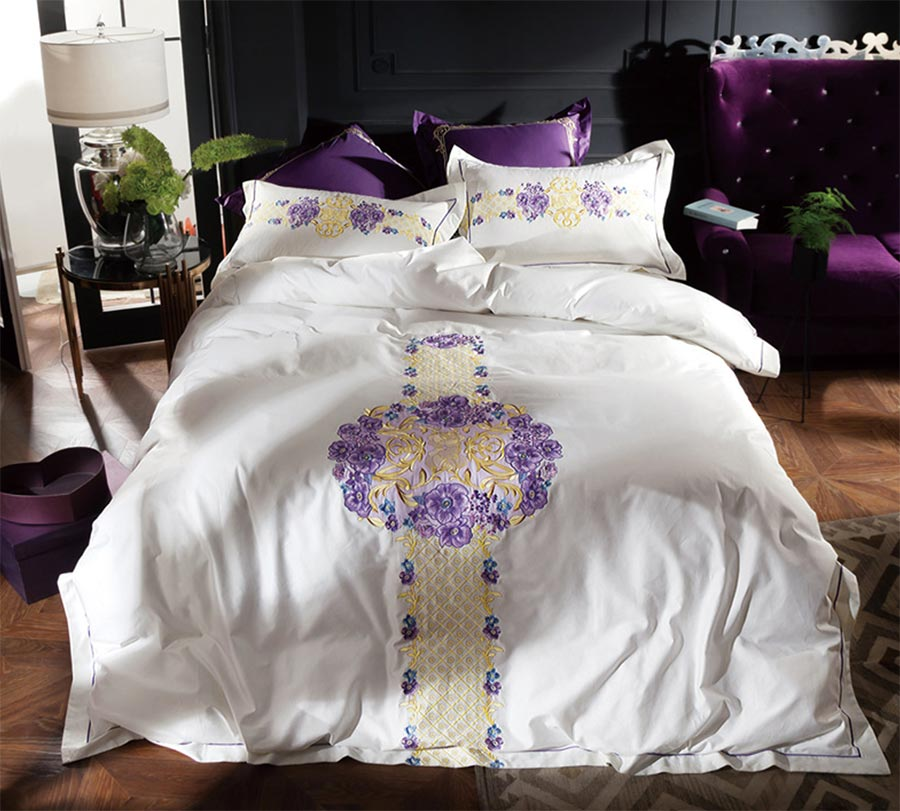 rustic flower bedding set adult teenfull queen king cotton 100s elegant floral home textile