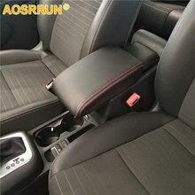 Aosrrun Искусственная кожа автомобиля подлокотник коробка крышка автомобильные аксессуары для Фольксваген Tiguan MK1 2007-2014