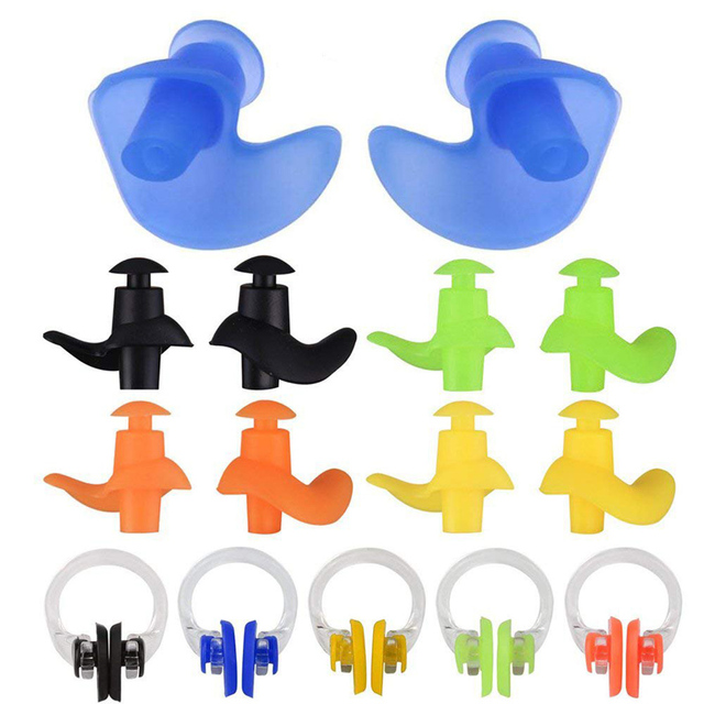 Swimming Ear Plugs and Nose Clips 4 pcs/Set