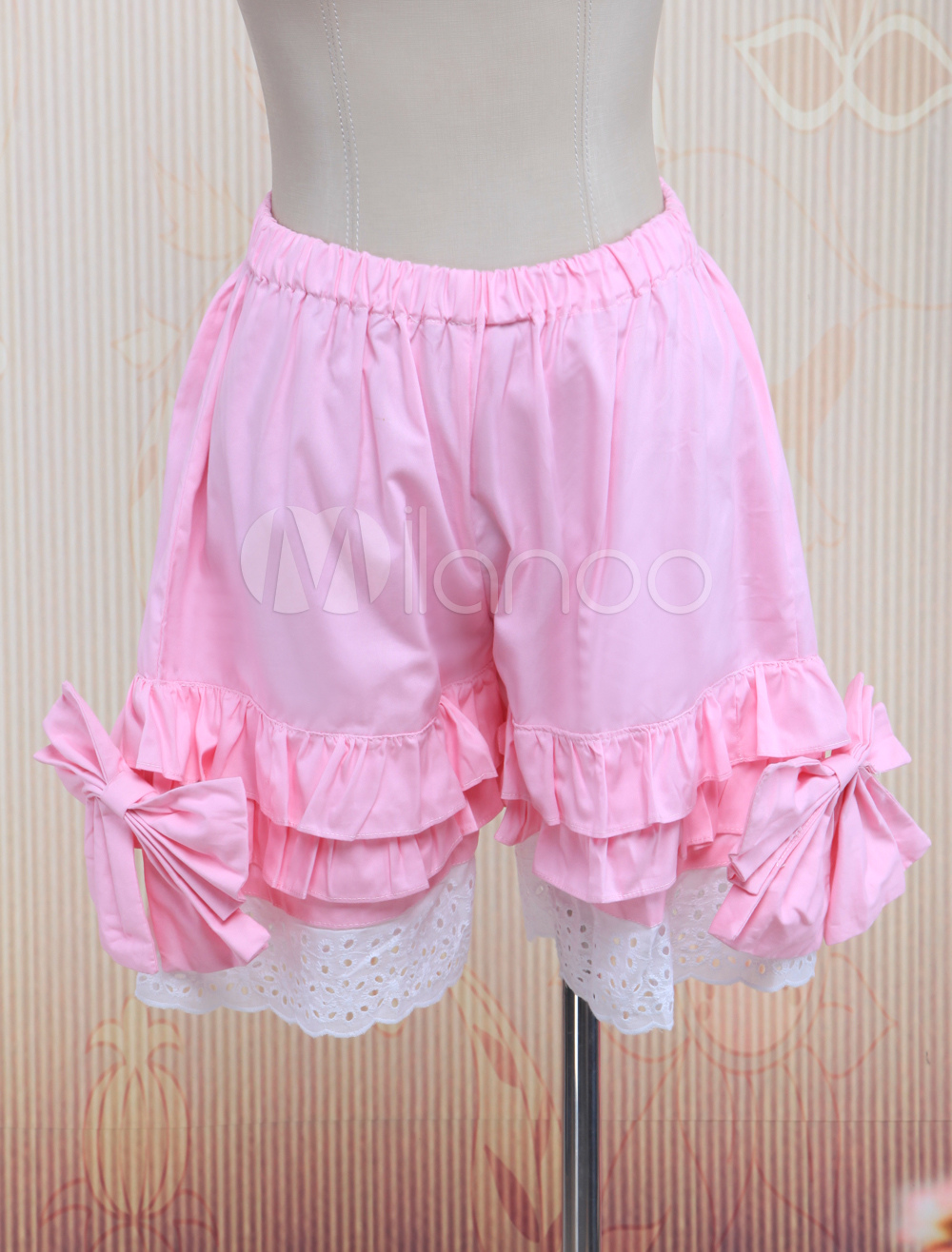 Cotton Pink Lace Lolita Bloomers