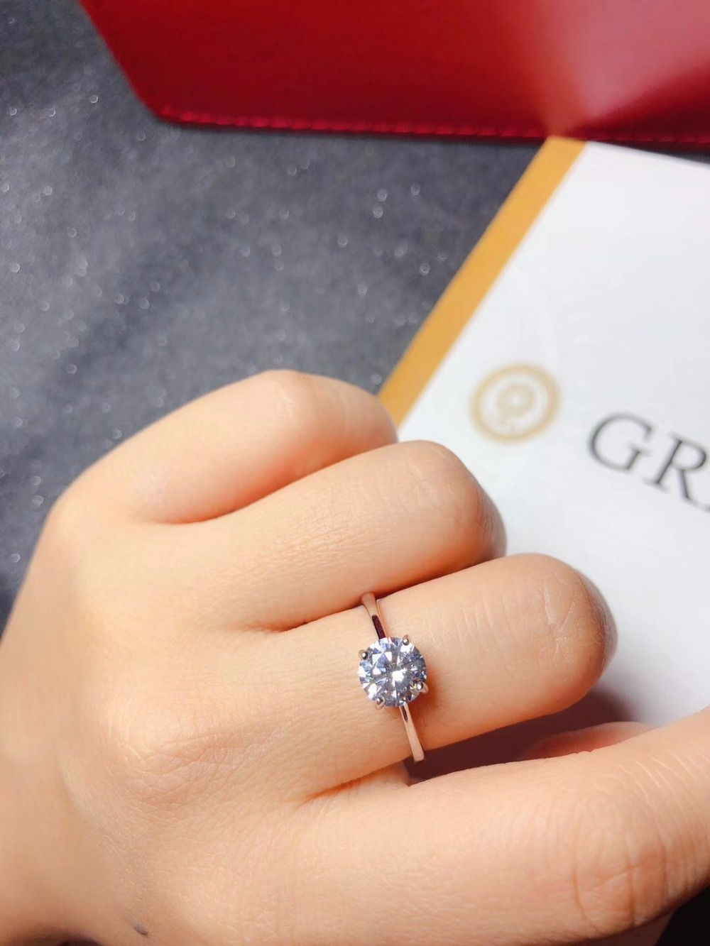 Moissanite, 925 Argent design de mode, forte feu couleur, diamant, haute dureté