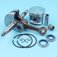 50mm Piston Crankshaft Oil Seals Kit For Husqvarna 372 365 371 362 Chainsaw Needle Bearing Pin/Finger Circlip