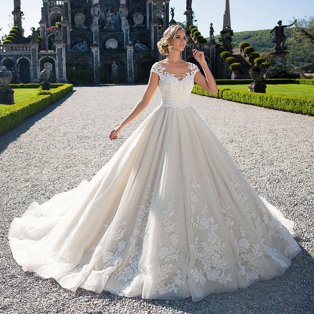 Robe de Mariage Hochzeitskleid Sexy Backless Brdial Dresses Luxury Lace Ball Gown Wedding Dress 2019 Vestido