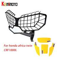 KEMiMOTO for Honda Africa Twin CRF1000L Motorcycle Headlight Lens Guard Protector 2016 CRF 1000L Africa Twin Film screen sticker