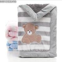 Baby Blankets Newborn Baby Swaddle Wrap Blanket Soft Thicken Flannel Manta Bebe Infant Baby Bedding Crib Receiving Blanket
