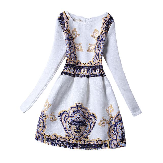 c73596a6b Retail Girls Dresses 2017 Fashion Foral Print Girl Dress Long sleeve ...