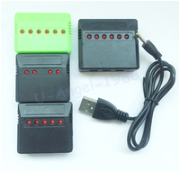 Cargador USB de batería Lipo Mini 4 puertos 5 puertos 6 puertos para Syma X5C Hubsan H107 Wltoys cuadricóptero RC UFO helicóptero, 1 Uds.