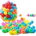 100 pçs/lote ecologicamente correta colorido plástico macio piscina de água do oceano onda bola bebê engraçado toys bola estresse bola de ar diversão ao ar livre esportes